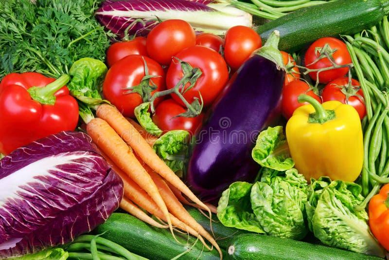 Variedade de legumes frescos fotografia de stock royalty free