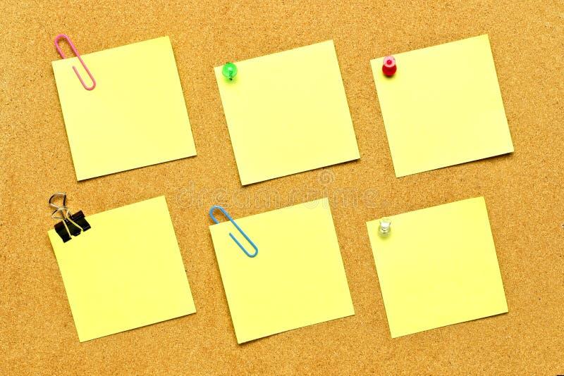 Variedade de notas de post-it fotografia de stock