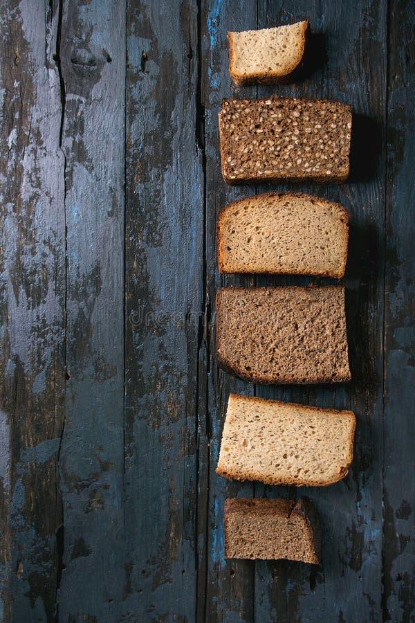 Variedade de pão de centeio imagem de stock royalty free
