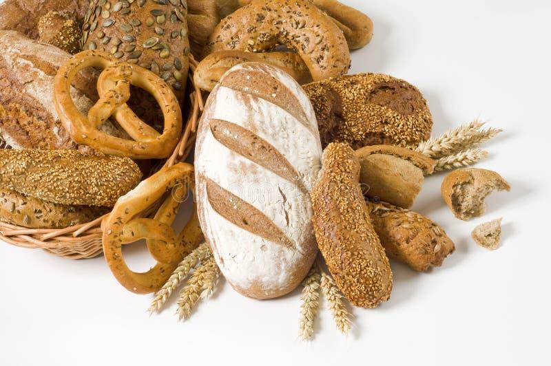 Variedade de pão de trigo inteiro fotografia de stock royalty free