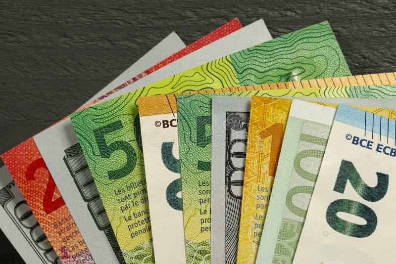 A variedade de papel moeda foto de stock royalty free