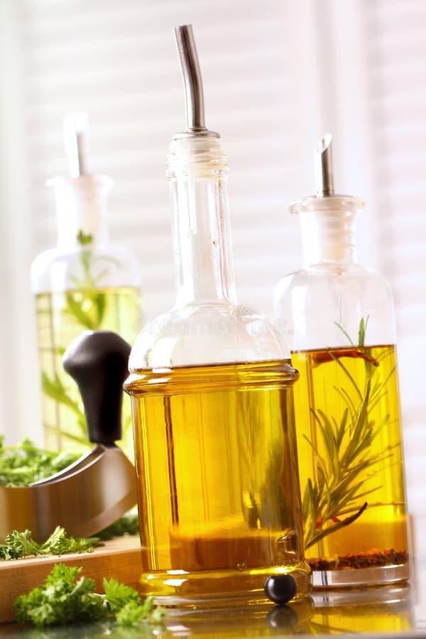 Variedade de petróleos verde-oliva fotografia de stock