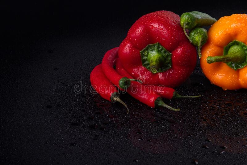Variedade de pimentos foto de stock