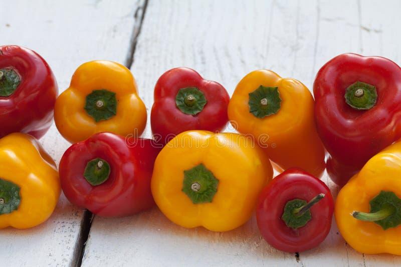 Variedade de pimentos frescos imagem de stock