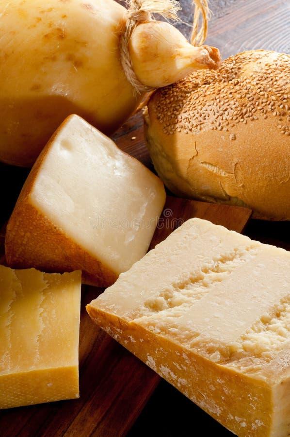 Variedade de queijo italiano imagem de stock royalty free
