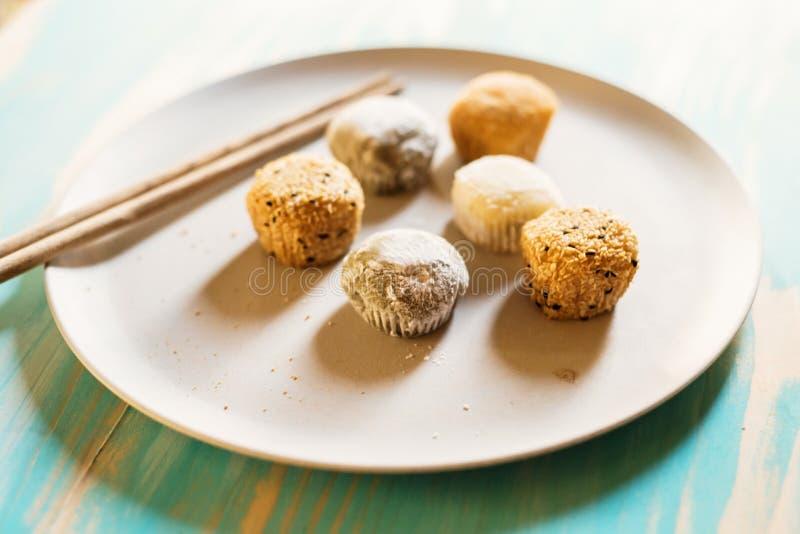 Variedade de sobremesa do mochi imagens de stock