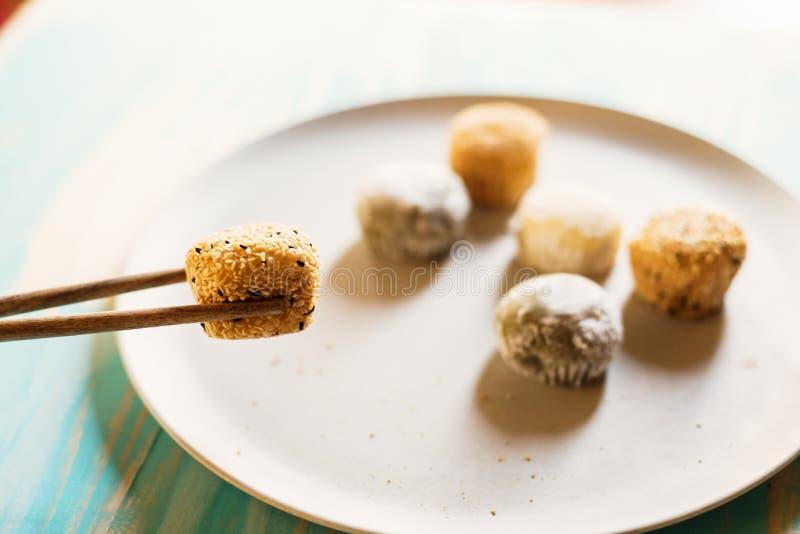 Variedade de sobremesa do mochi imagem de stock royalty free
