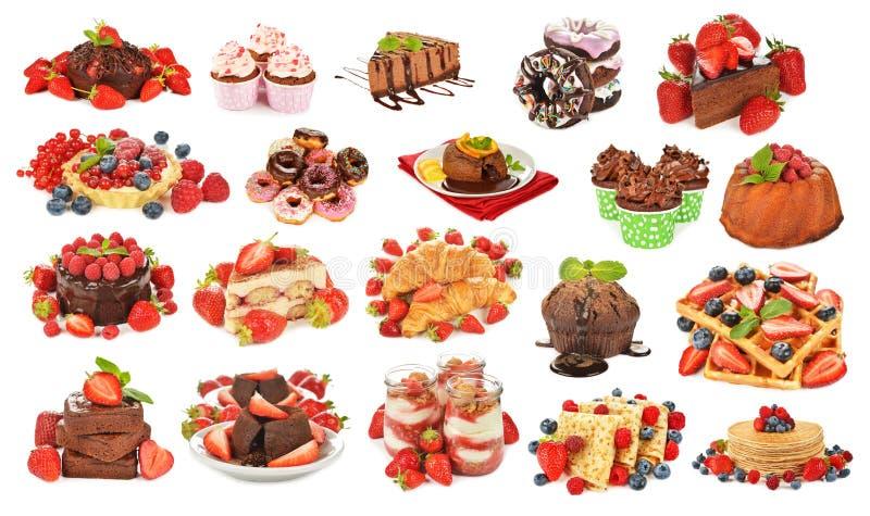 Variedade de várias sobremesas fotos de stock
