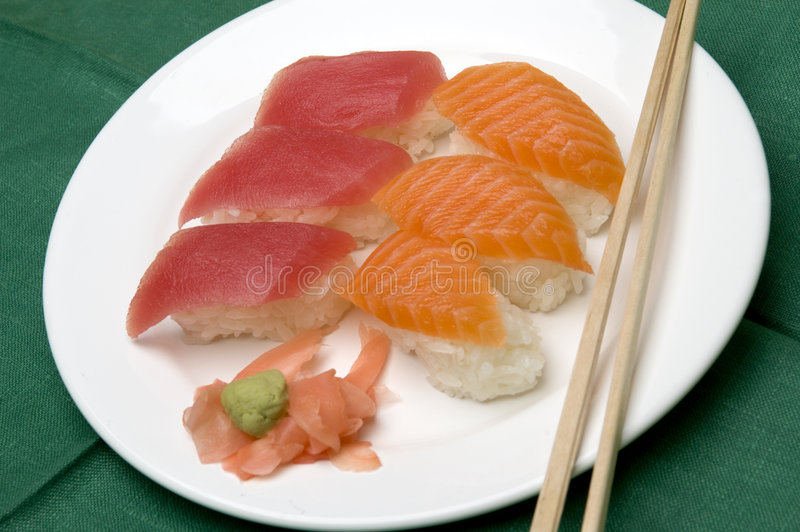 Variedade do alimento do sushi fotografia de stock