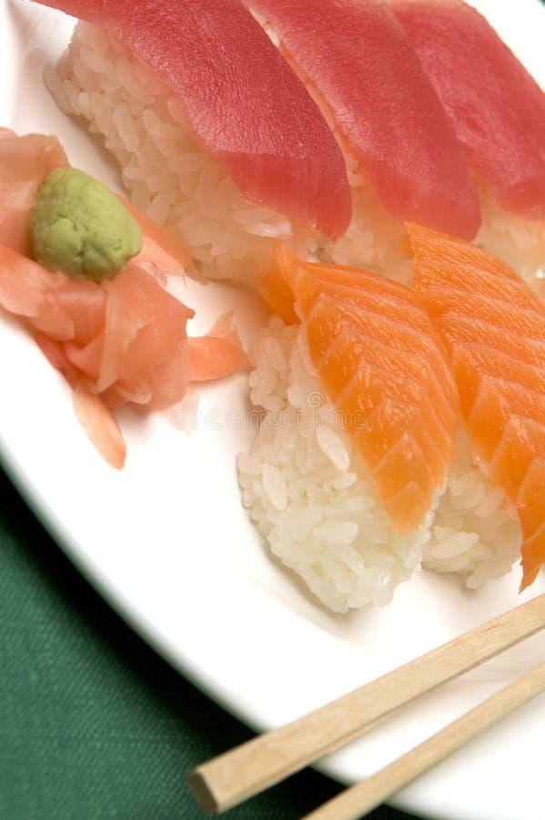 Variedade do alimento do sushi fotografia de stock royalty free