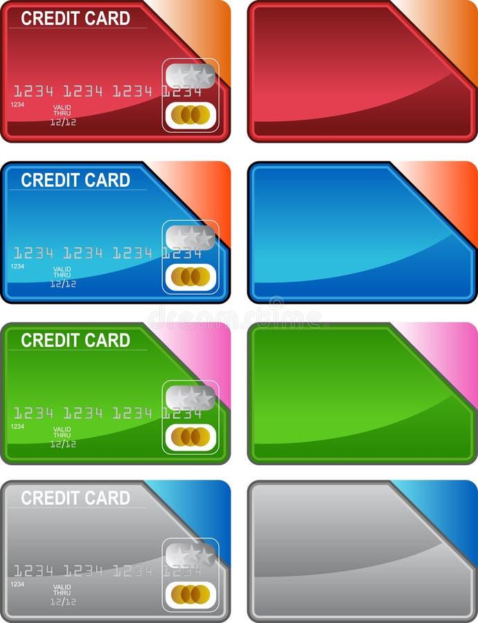 Variedade do cartão de crédito ilustração stock