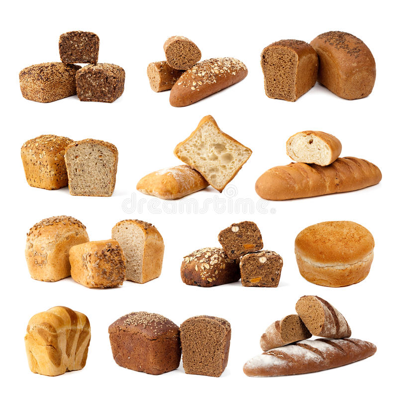 Variedade do pão foto de stock royalty free