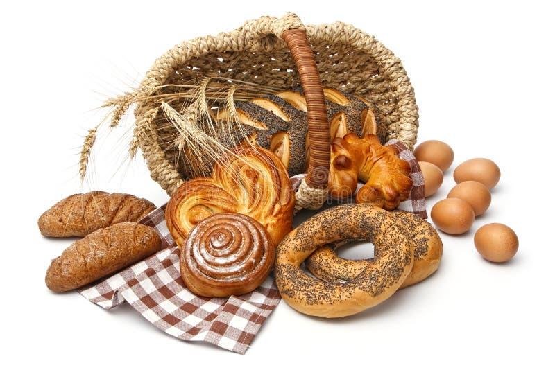 Variedade do pão cozido fotografia de stock royalty free