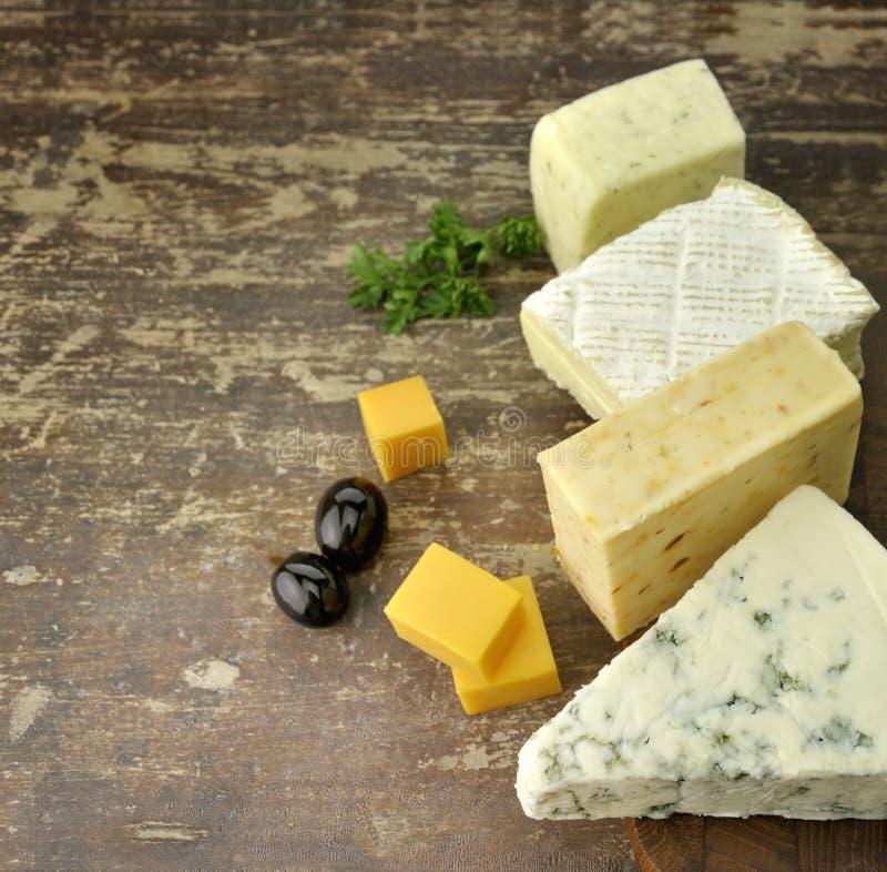 Variedade do queijo imagem de stock