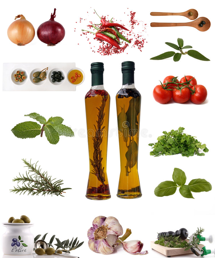 Variedade dos ingredientes foto de stock