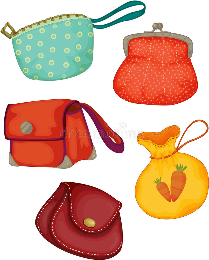 Variedades de bolsas das senhoras ilustração royalty free