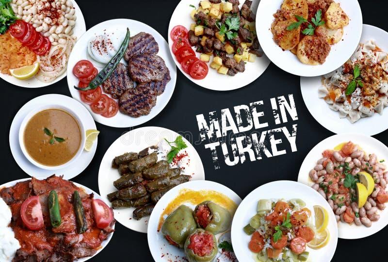 Variedades de diferente da culinária turca Feito em Turquia foto de stock