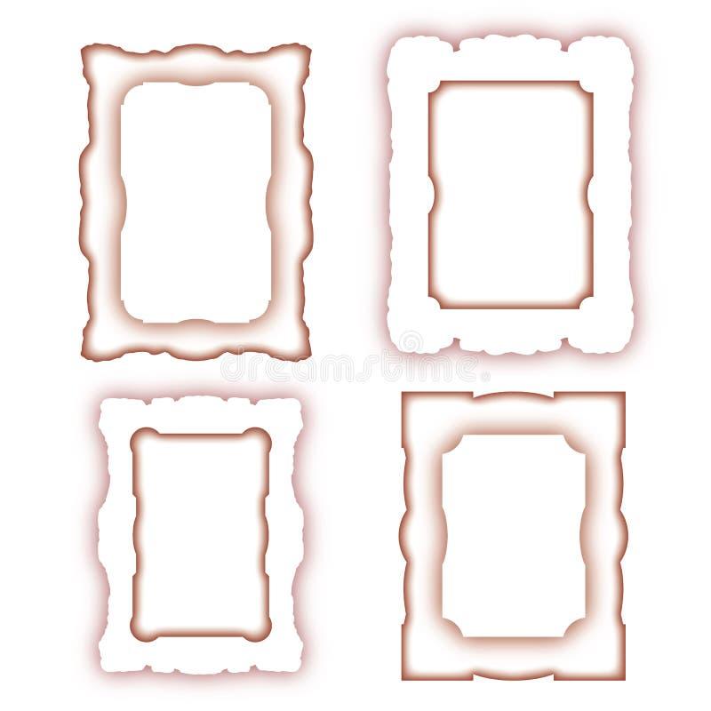 Variedades ornamentales, resumidas del modelo del marco, en cuatro diversas versiones libre illustration