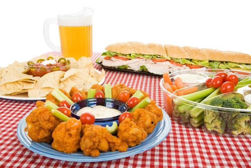 Varietà dell'alimento del partito fotografie stock