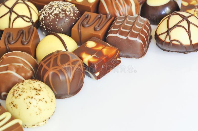 Varietà della caramella di cioccolato fotografia stock
