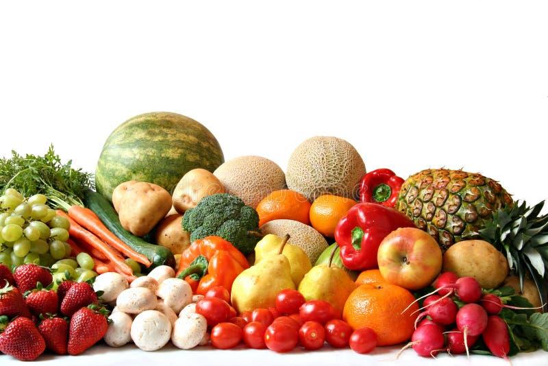 Varietà della verdura e della frutta fotografia stock libera da diritti