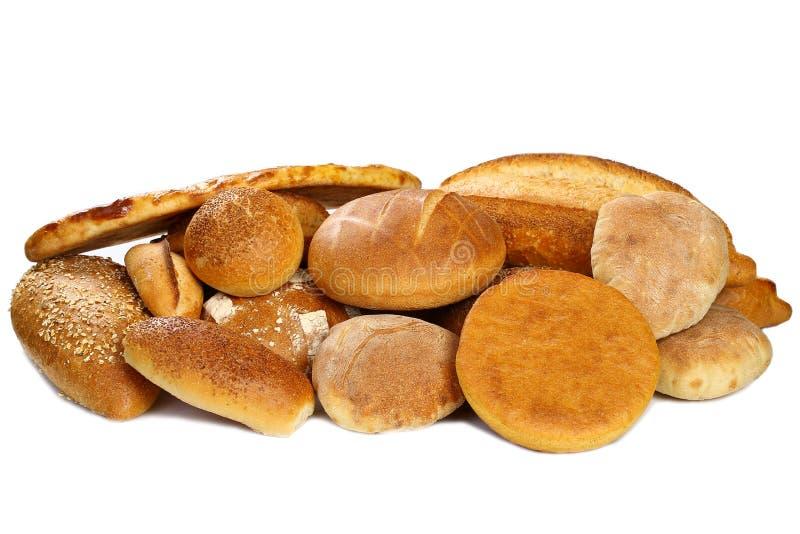 Varietà di pane fresco fotografie stock