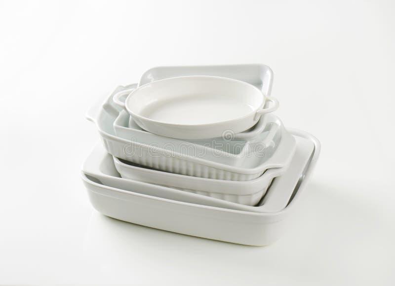 Varietà di piatti di cottura fotografie stock