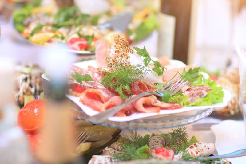 Varietà di prodotti culinari deliziosi fotografia stock