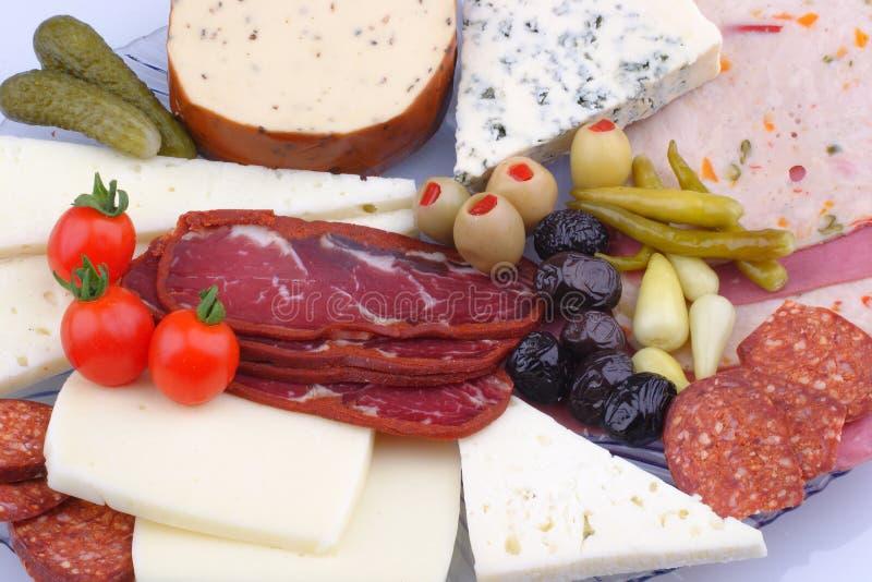 Variet? di prodotti a base di carne e di formaggio fotografie stock libere da diritti
