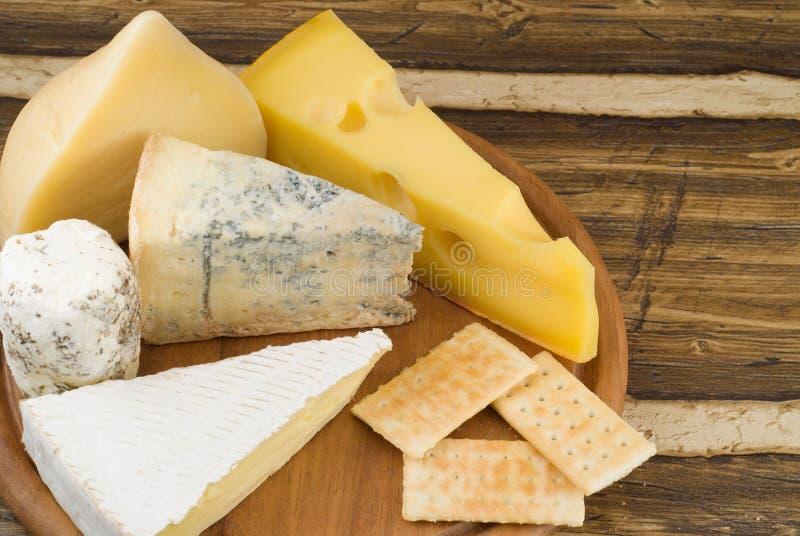 Varietes do queijo fotos de stock royalty free