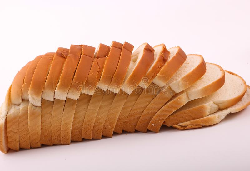 Fresh Toast. Variety of bakery on white background stock photography