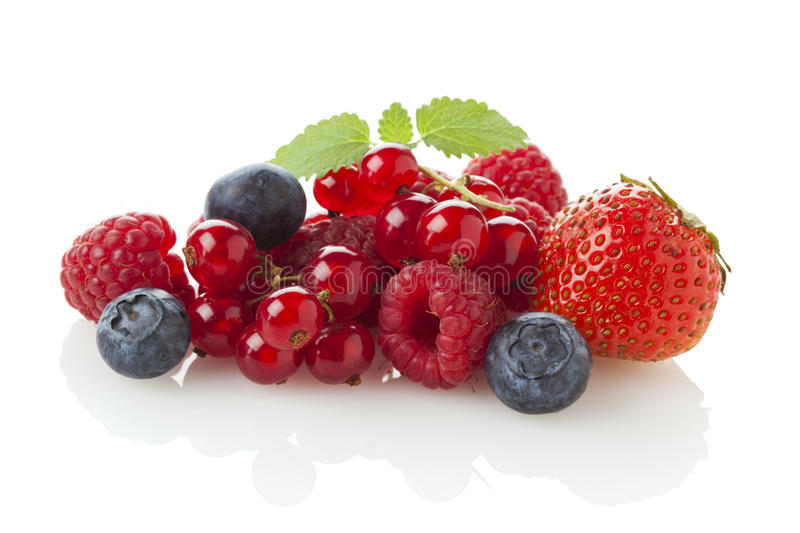 Variety of berry fruit royalty free stock image