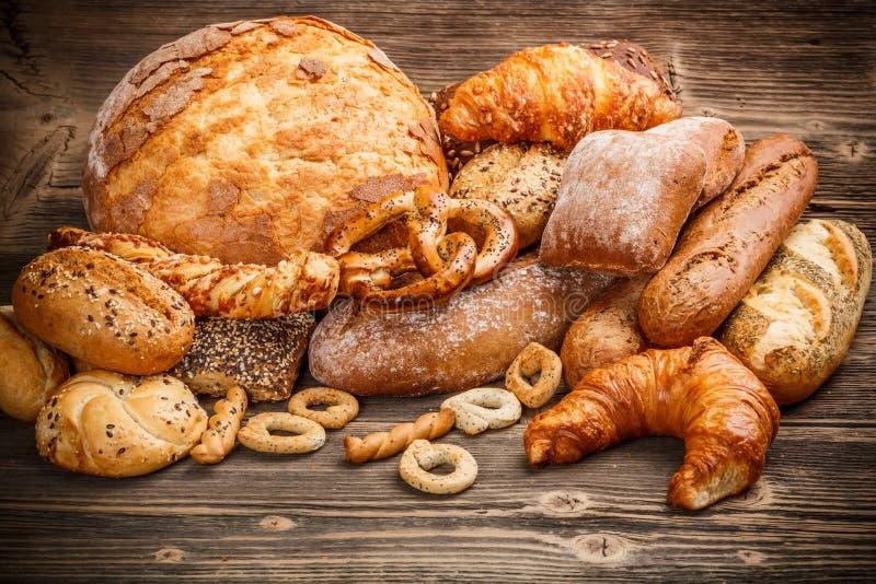Variety of bread royalty free stock photos