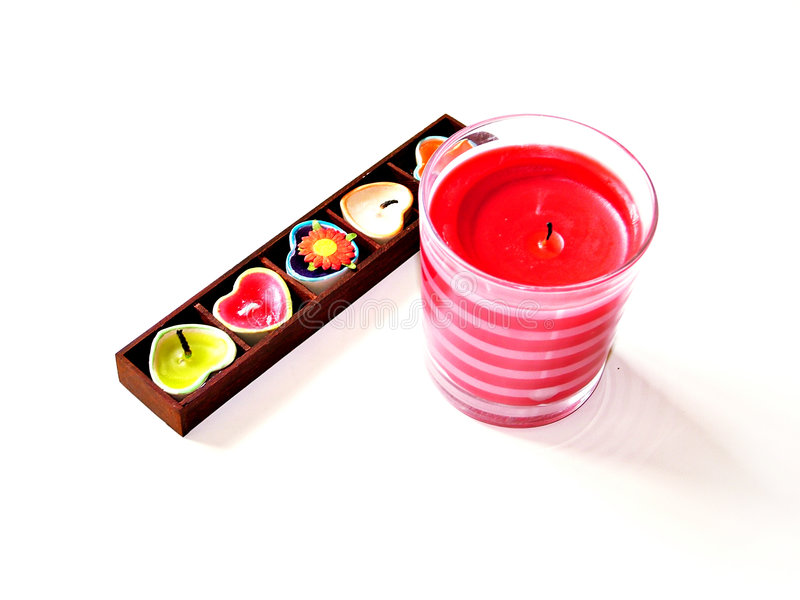 Variety of candles royalty free stock photos