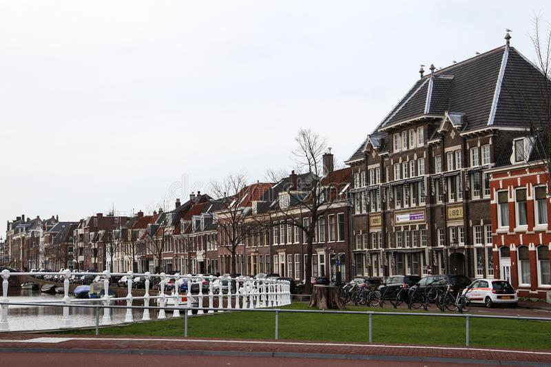 Spectacular architecture of Haarlem stock photos