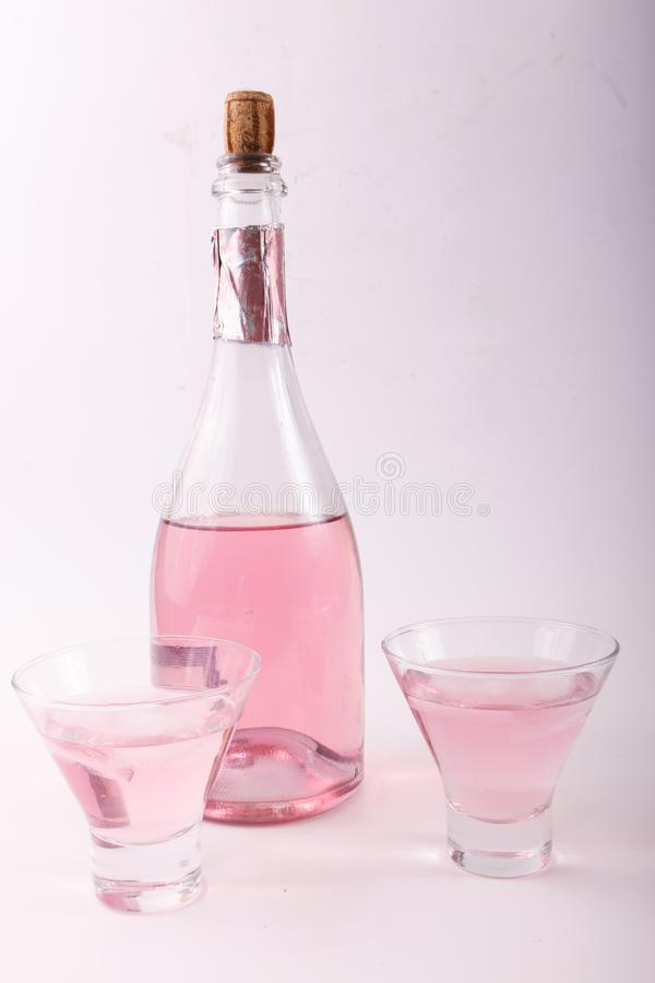 Alcoholic beverages. Variety of different Alcoholic beverages bottles royalty free stock photo
