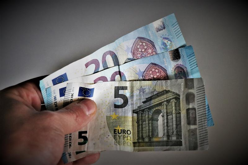 Banknotes currency of the European union. royalty free stock photography