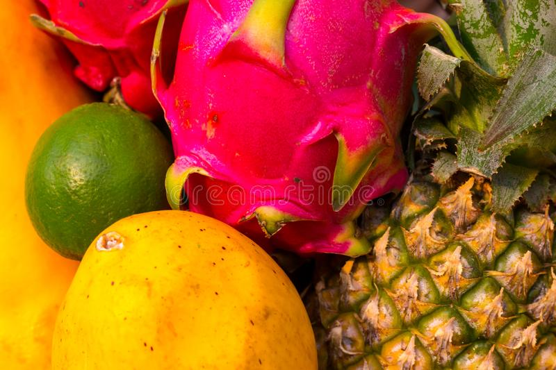 Variety of fresh fruit royalty free stock image