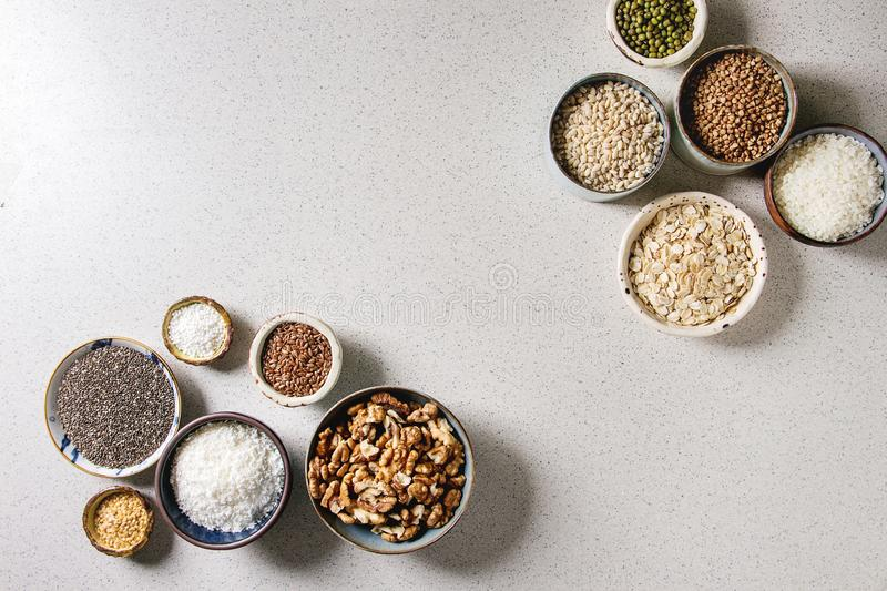 Variety of grains royalty free stock image