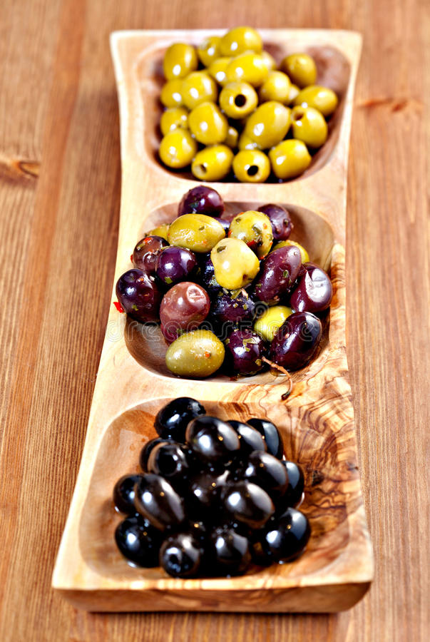 Download Variety Of Green, Black And Mixed Marinated Olives Stock Image - Image of pitted, black: 32234909