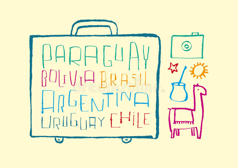 Traveling to South American royalty free stock photo