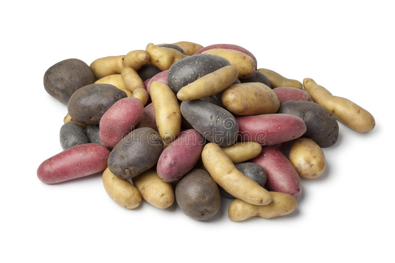 Download Variety Of Heirloom Potatoes Stock Image - Image of whole, vitalotte: 26441891