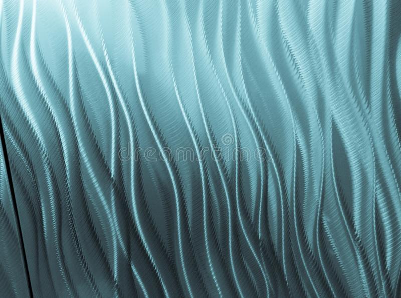 Variety of lines and curves form abstract blue pattern royalty free stock images