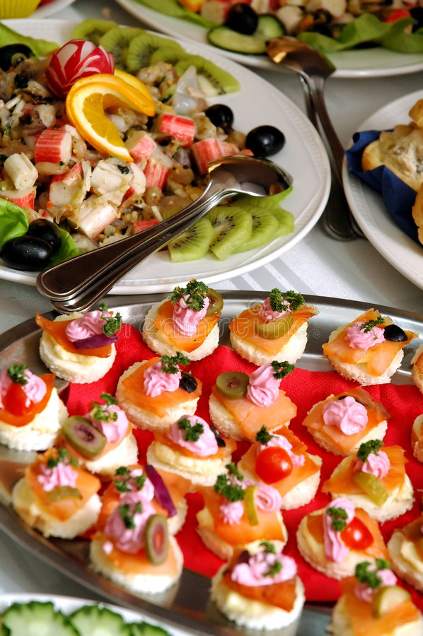 Free Variety Of Canapes Royalty Free Stock Photo - 1768845