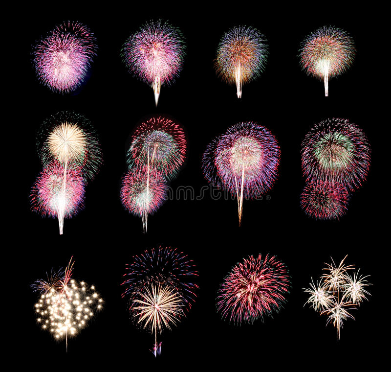 Free Variety Of Colors Mix Fireworks Or Firecracker Collections. Stock Photo - 80173050