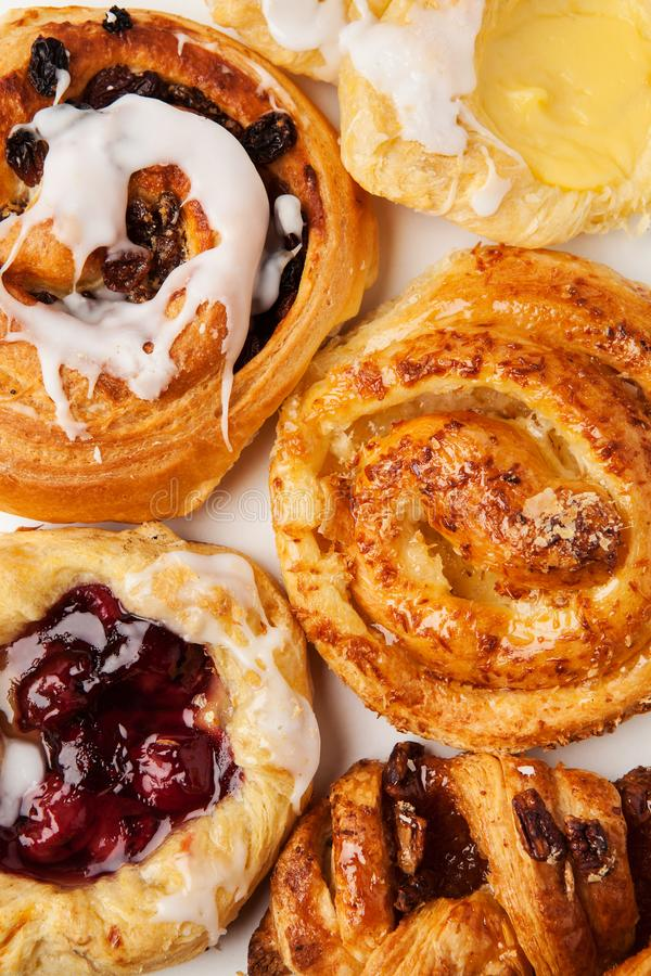 Free Variety Of Viennoiserie Or Danish Pastries Stock Photography - 139805252