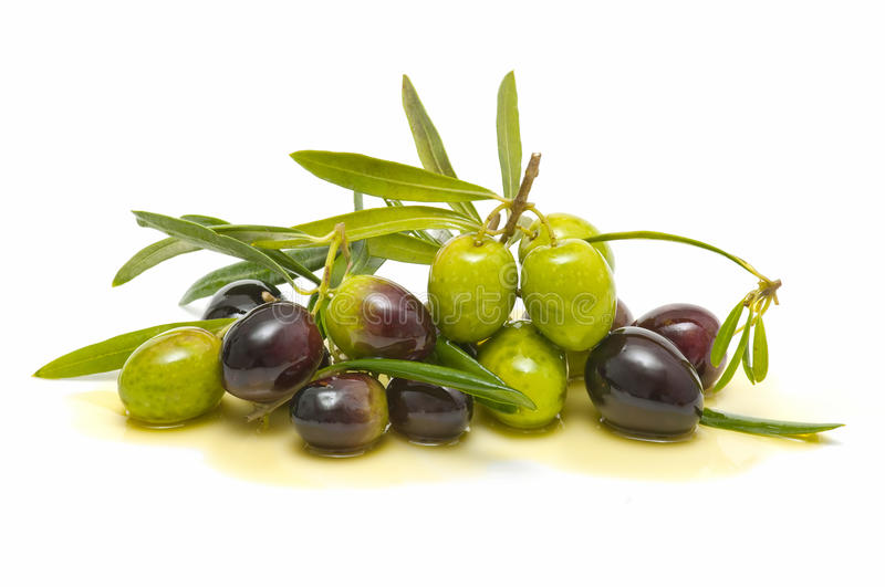 Variety of olives stock images