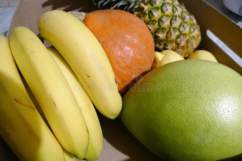 Variety of raw fresh tropic fruit. A variety of raw fresh tropic fruit royalty free stock photos