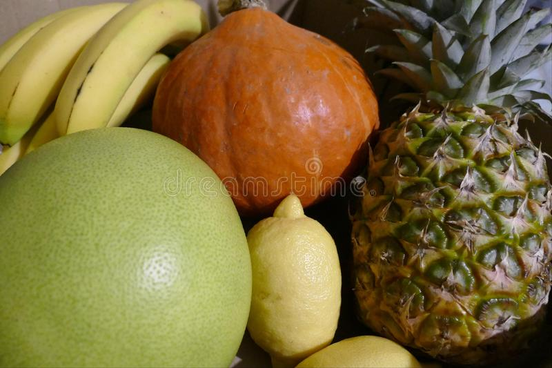 Variety of raw fresh tropic fruit. A variety of raw fresh tropic fruit royalty free stock images