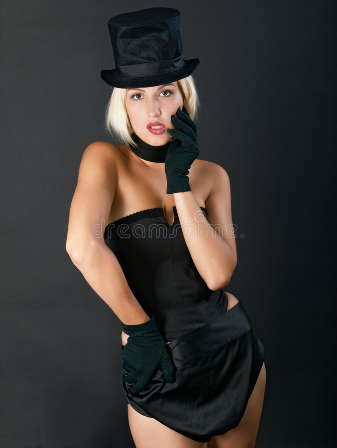 Free Variety Show Woman In Black. Stock Photo - 6153060